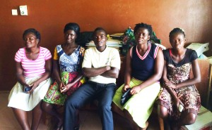 CHWs in Bonsasso (from left to right): Teresa, Naomi, Hayford, Esther and Benita